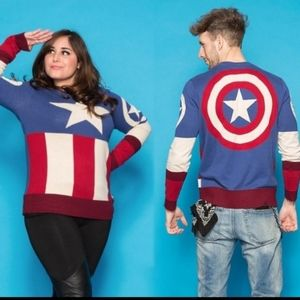 Marvel Captain America cotton sweater unisex NIP